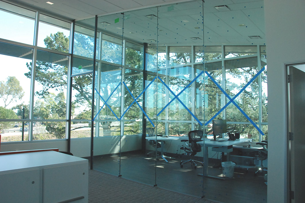 glass wall and glass door